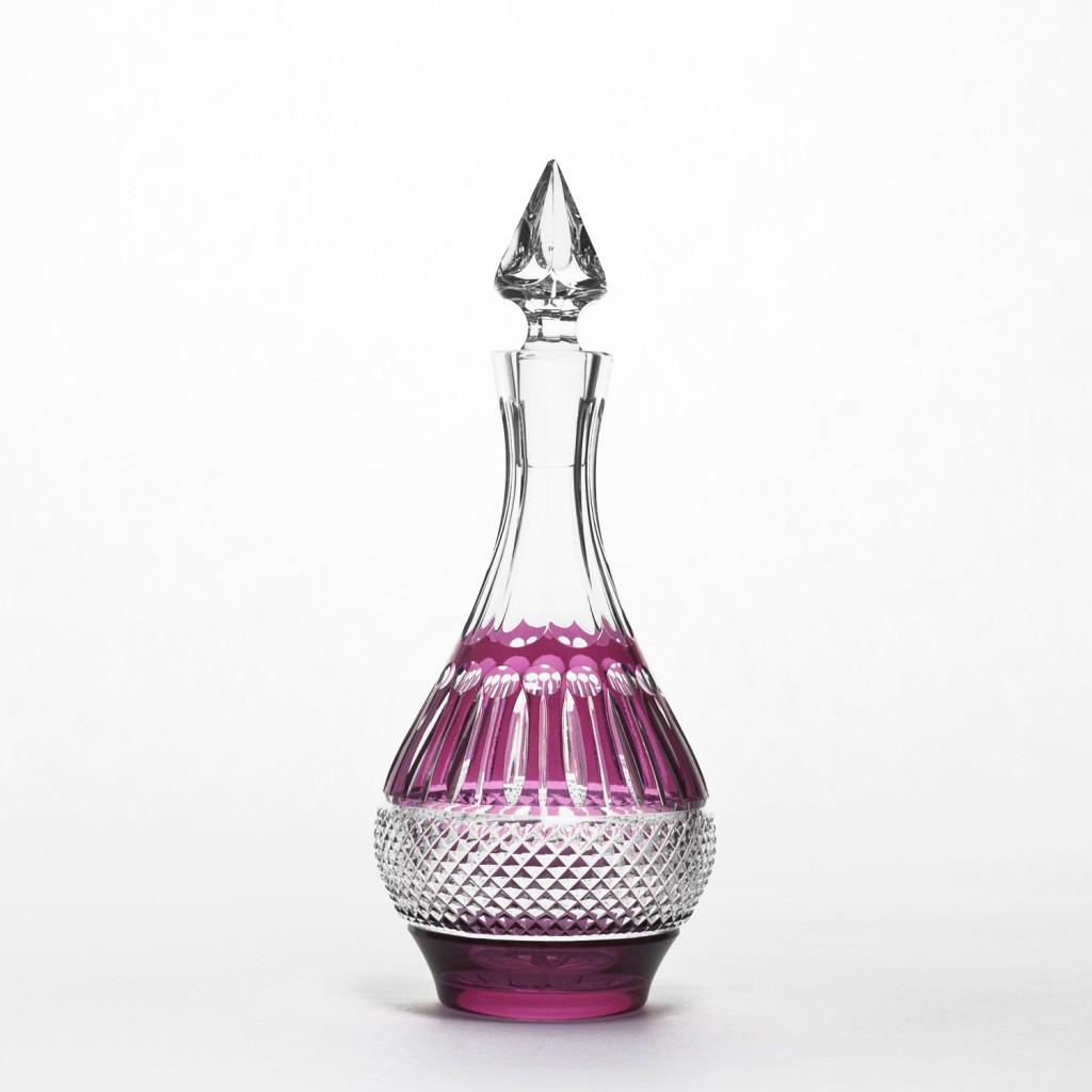 Raspberry Crystal Decanter by Gurasu Crystal