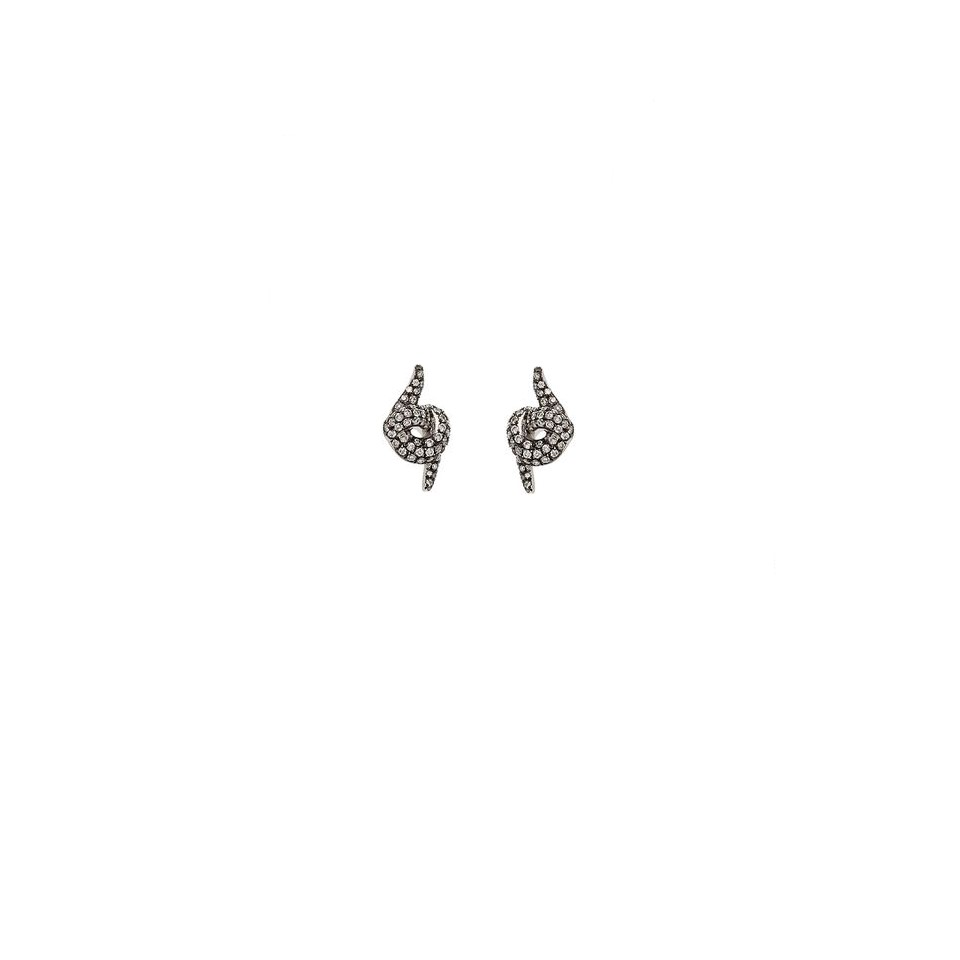 Diamond Stud Earrings by Leyla Abdollahi