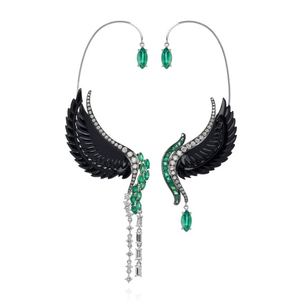 Lust & Lure Onyx Earrings by Leyla Abdollahi