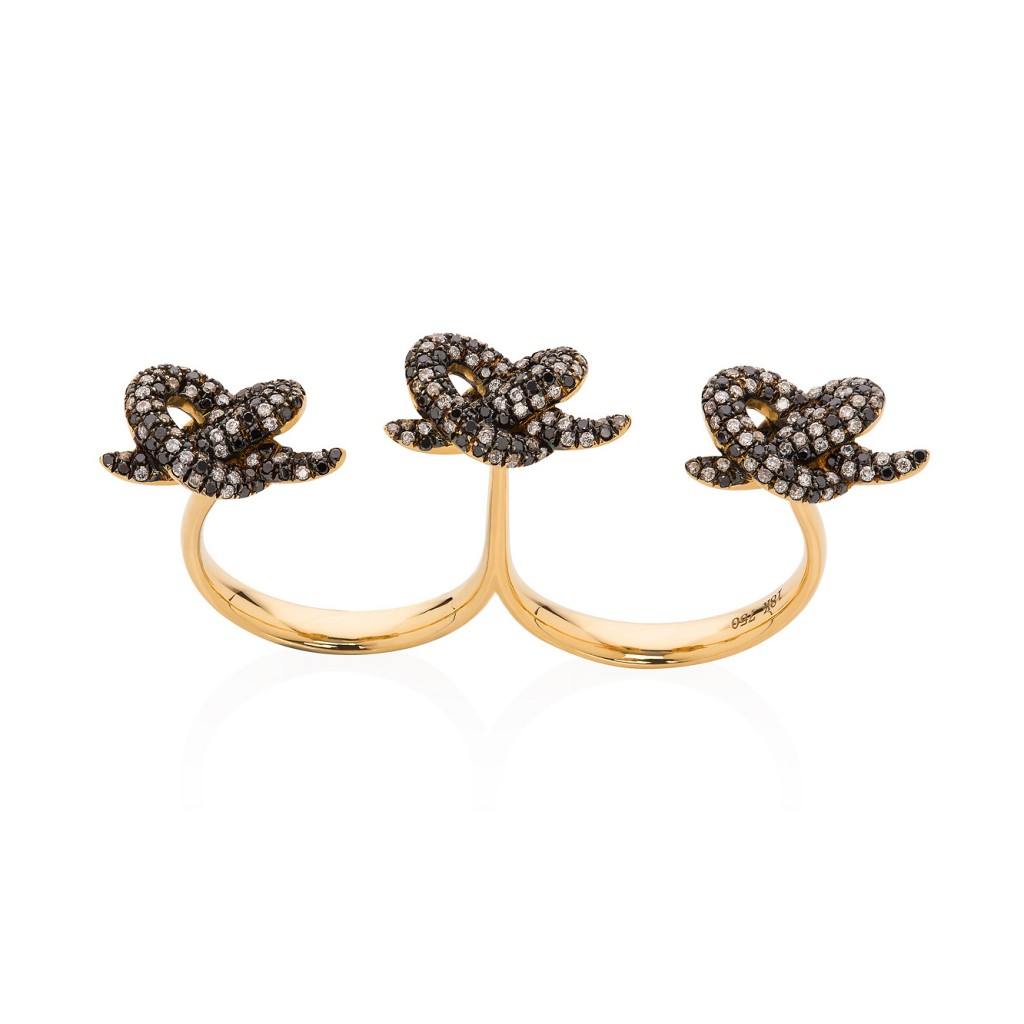 Lust & Lure Black Diamond Ring by Leyla Abdollahi