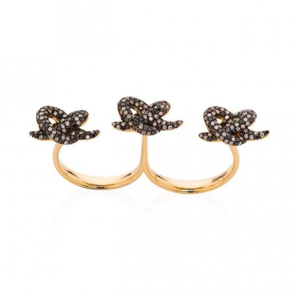 Lust & Lure Black Diamond Ring by Leyla Abdollahi
