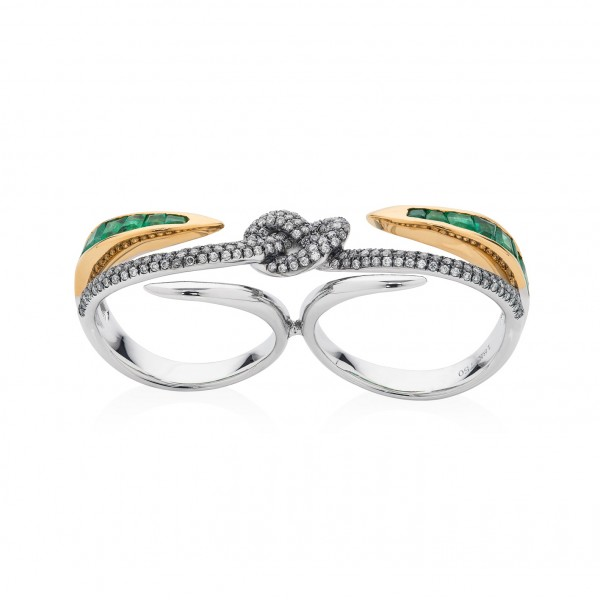 Lust & Lure Double Ring by Leyla Abdollahi