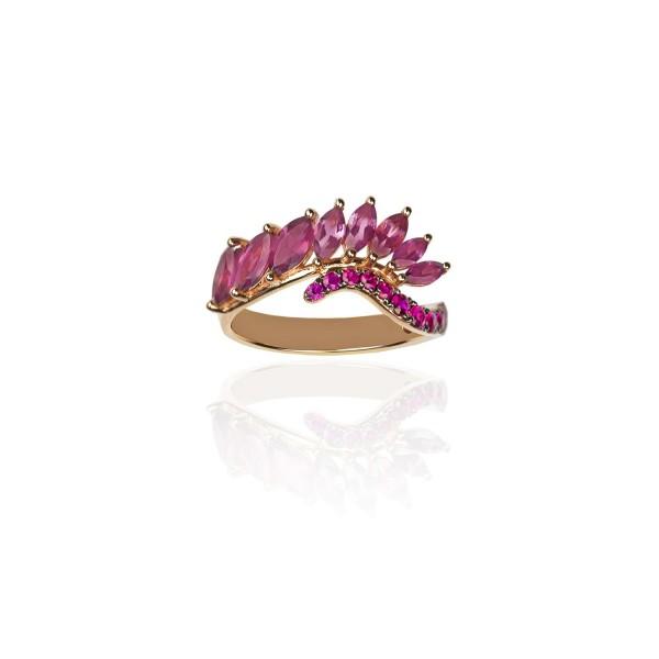 Radiant Rhodolite Ring by Leyla Abdollahi