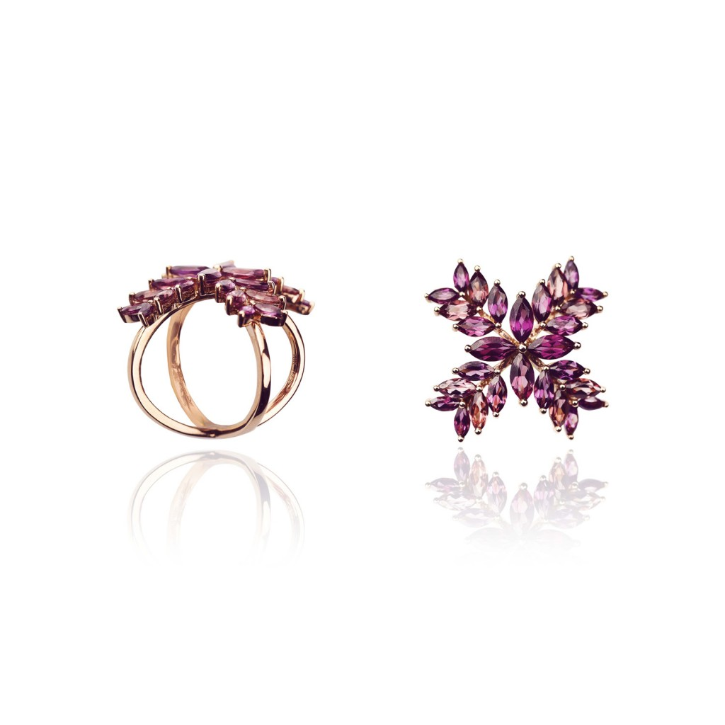 Radiant Flower Ring by Leyla Abdollahi