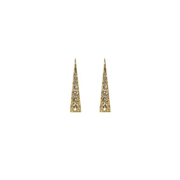 Spark Earrings – Champagne Diamond