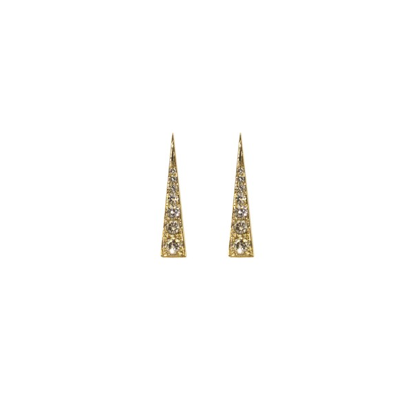 Spark Earrings – Champagne Diamond