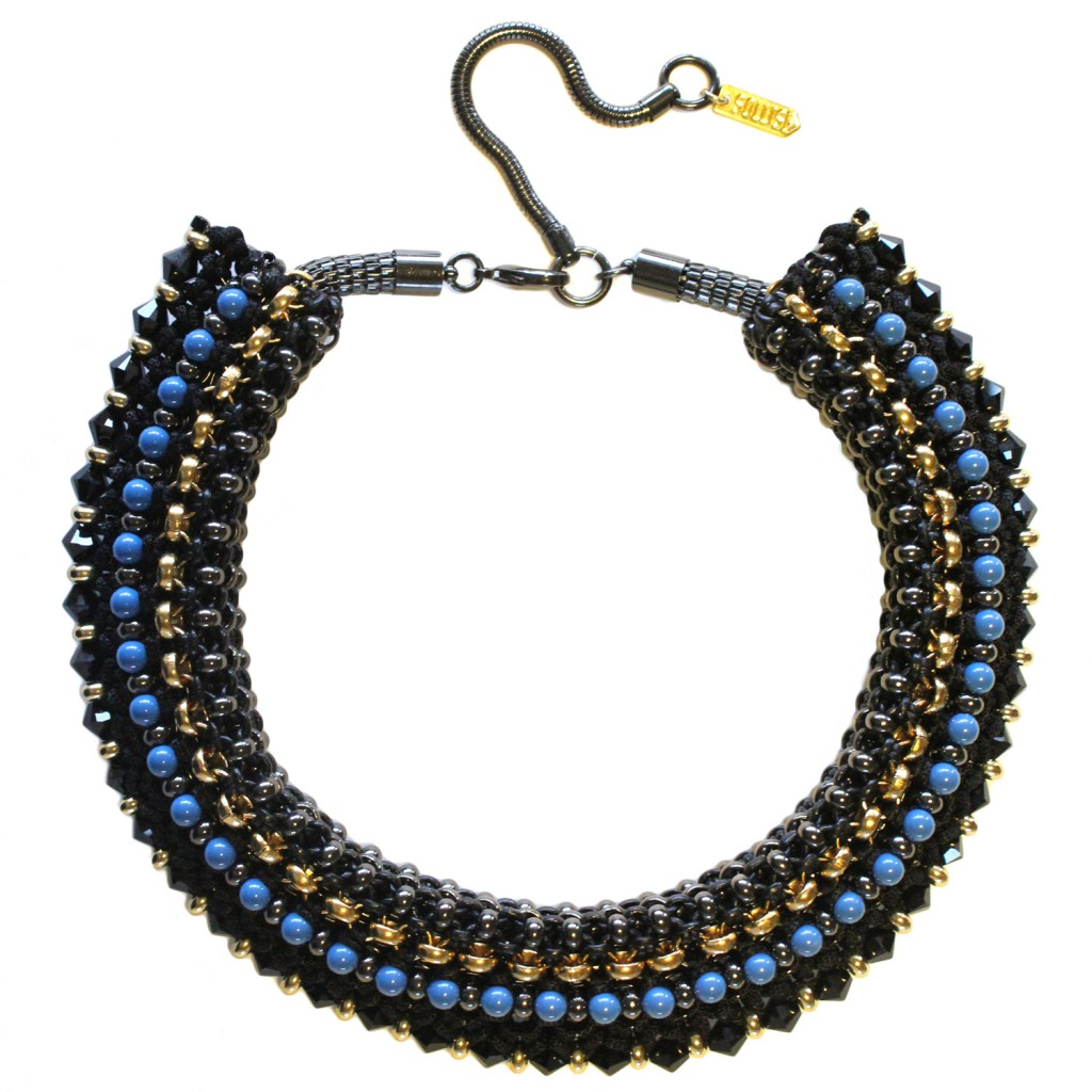 Congo Statement Necklace – Black by SOLLIS