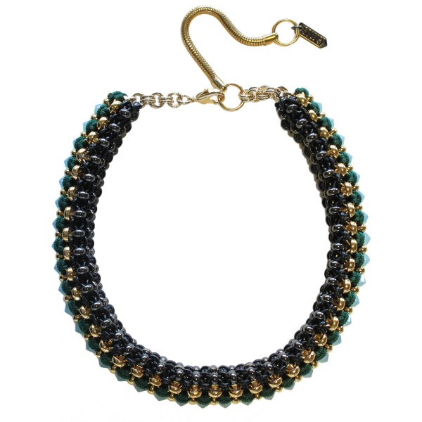 Congo Necklace – Green by SOLLIS