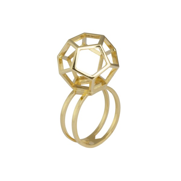 Single Dodecahedron Ring by KATTRI