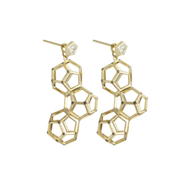 Triple Dodecahedron Earring