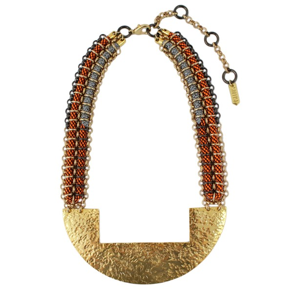 Kuba Necklace – Orange by SOLLIS