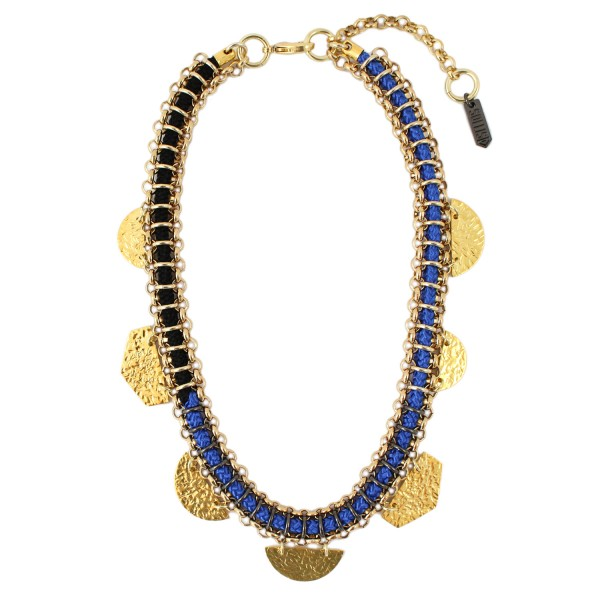 Taka Necklace – Blue by SOLLIS