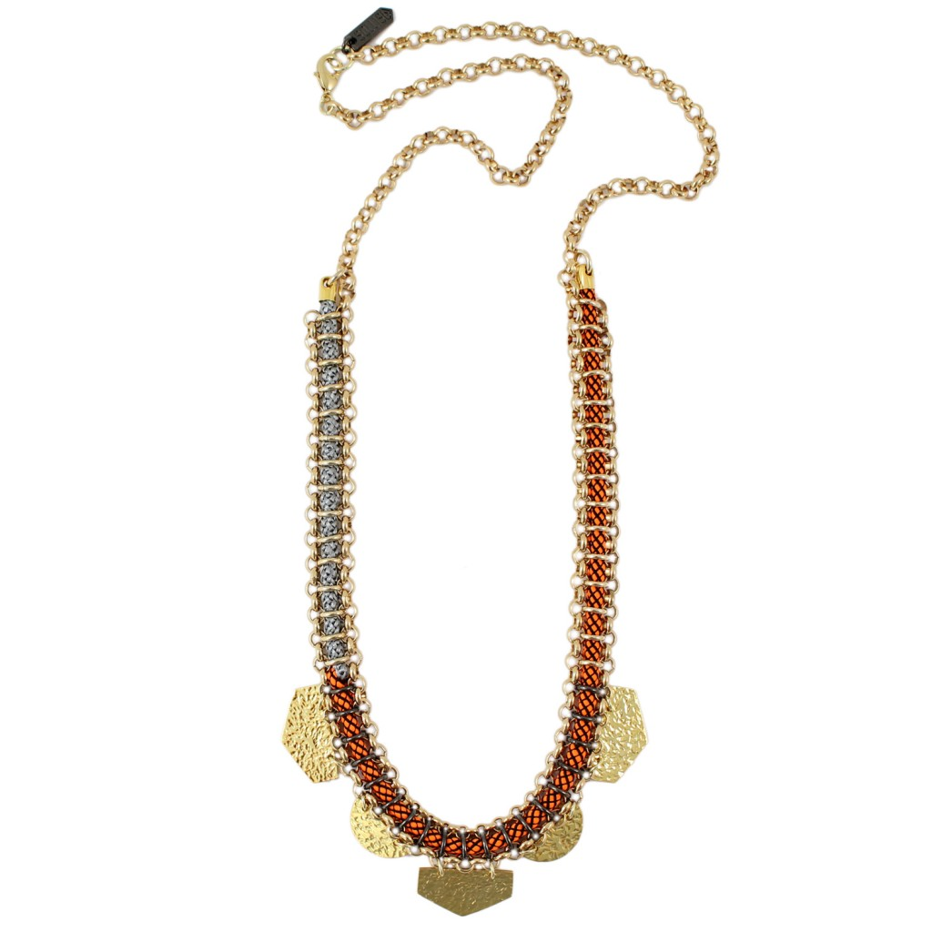 Zuma Necklace – Orange by SOLLIS