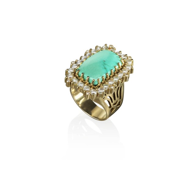 The Lotus Ring by Azza Fahmy