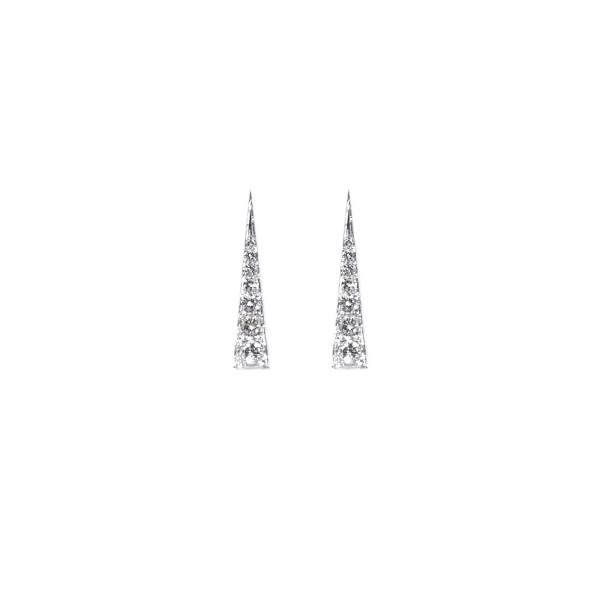 Spark Earrings – White Diamond by Daou Jewellery