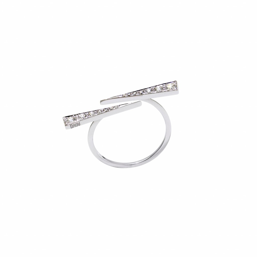 Twin Spark Ring – White Gold by Daou Jewellery