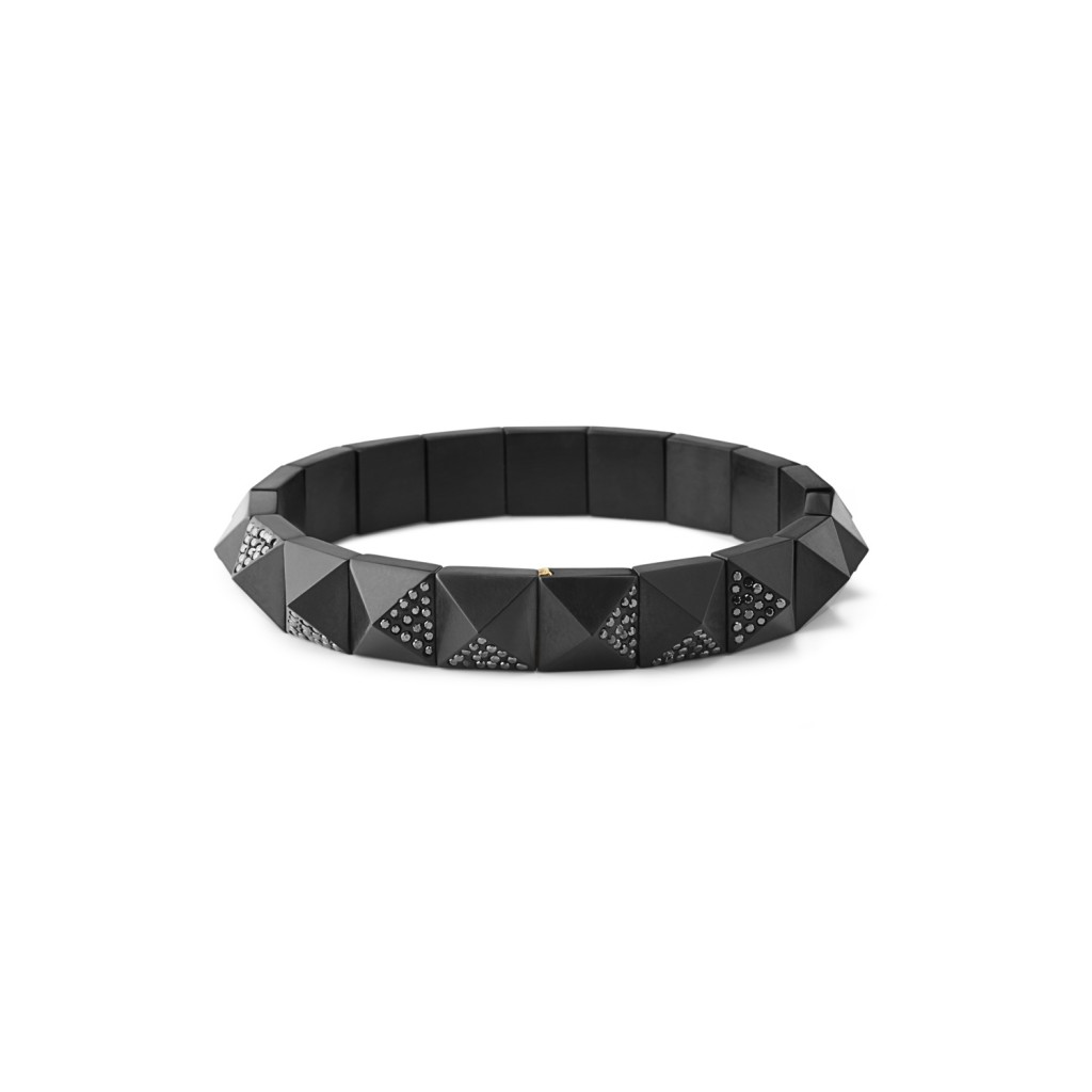 Pyramid Black Diamond Bracelet by Jacqueline Cullen