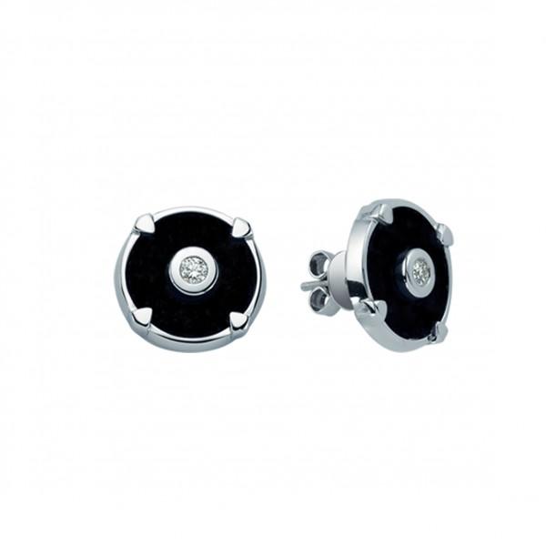 Dark Circle Earrings by Melis Goral