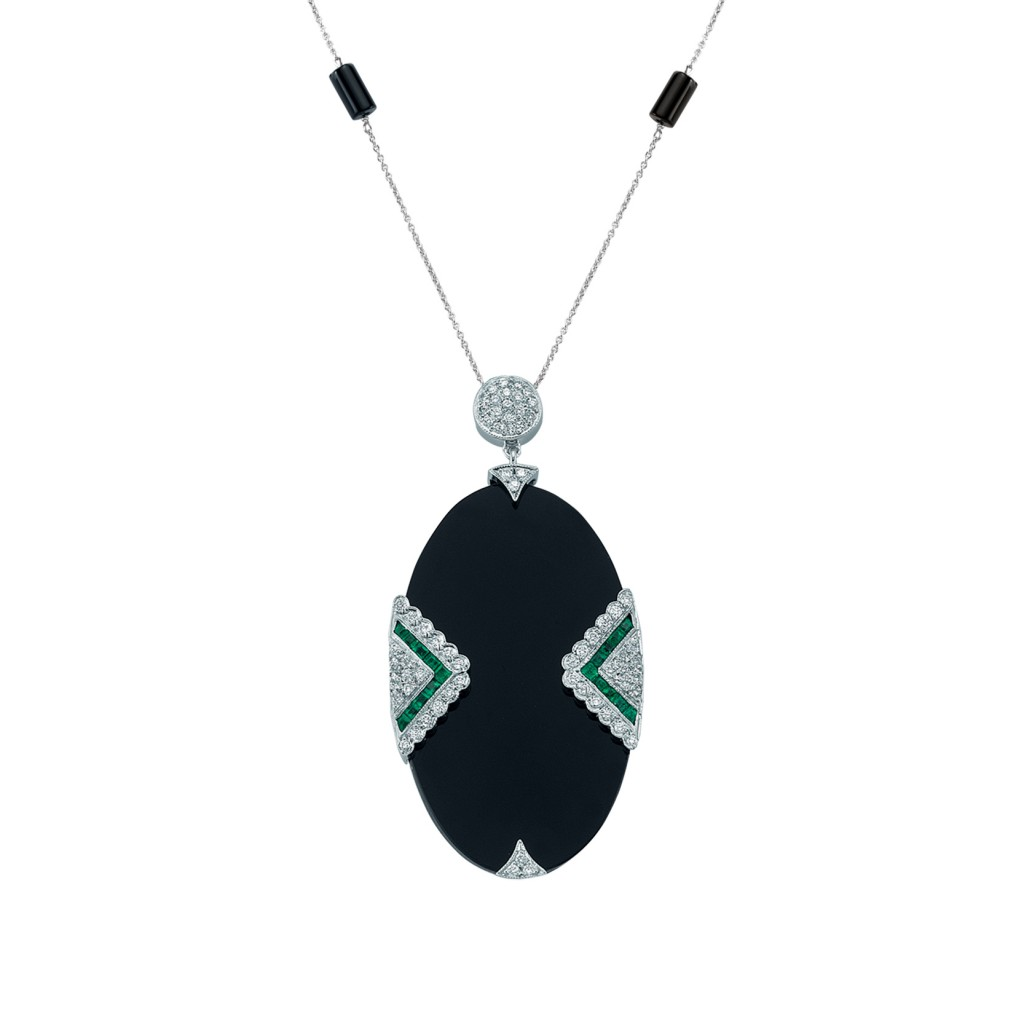 Dark Oval Necklace by Melis Goral