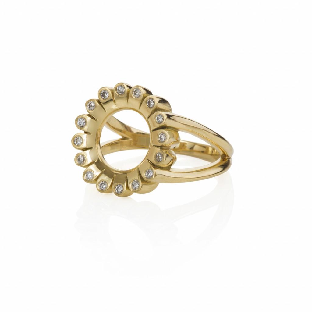 Lotus Lakshmi Diamond Ring