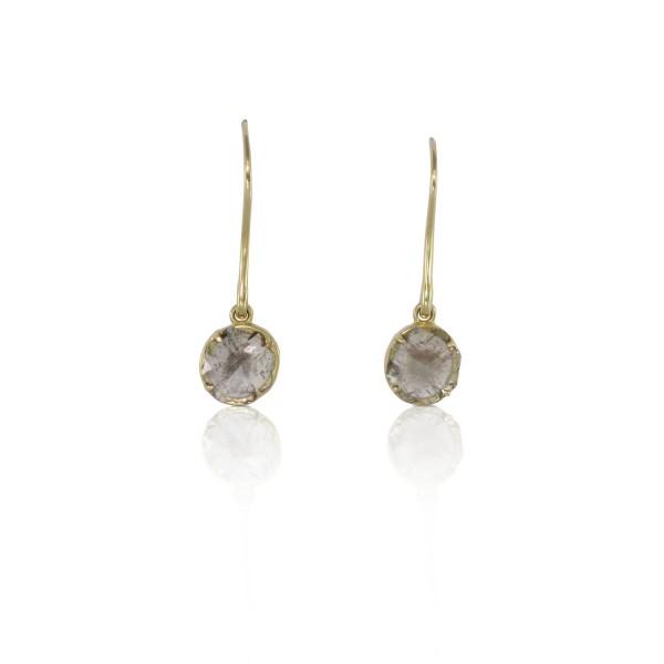 Flower Diamond Slice Earrings