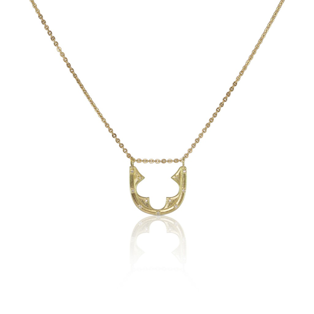 Diamond Gold Necklace by Luca Jouel