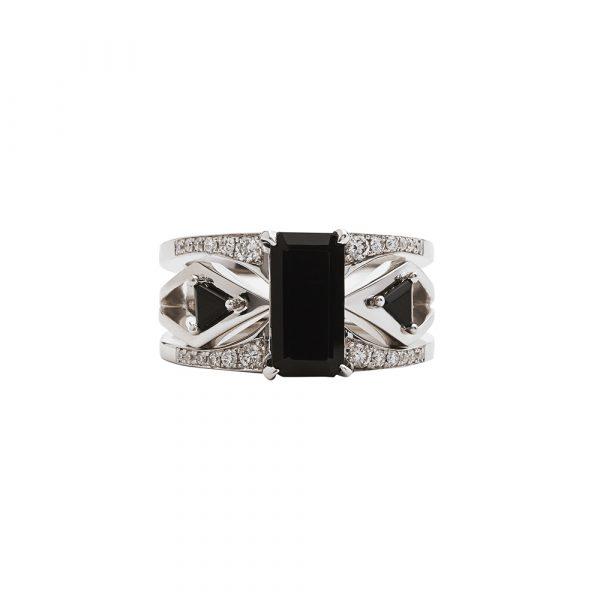 Mirage Black Ring Set