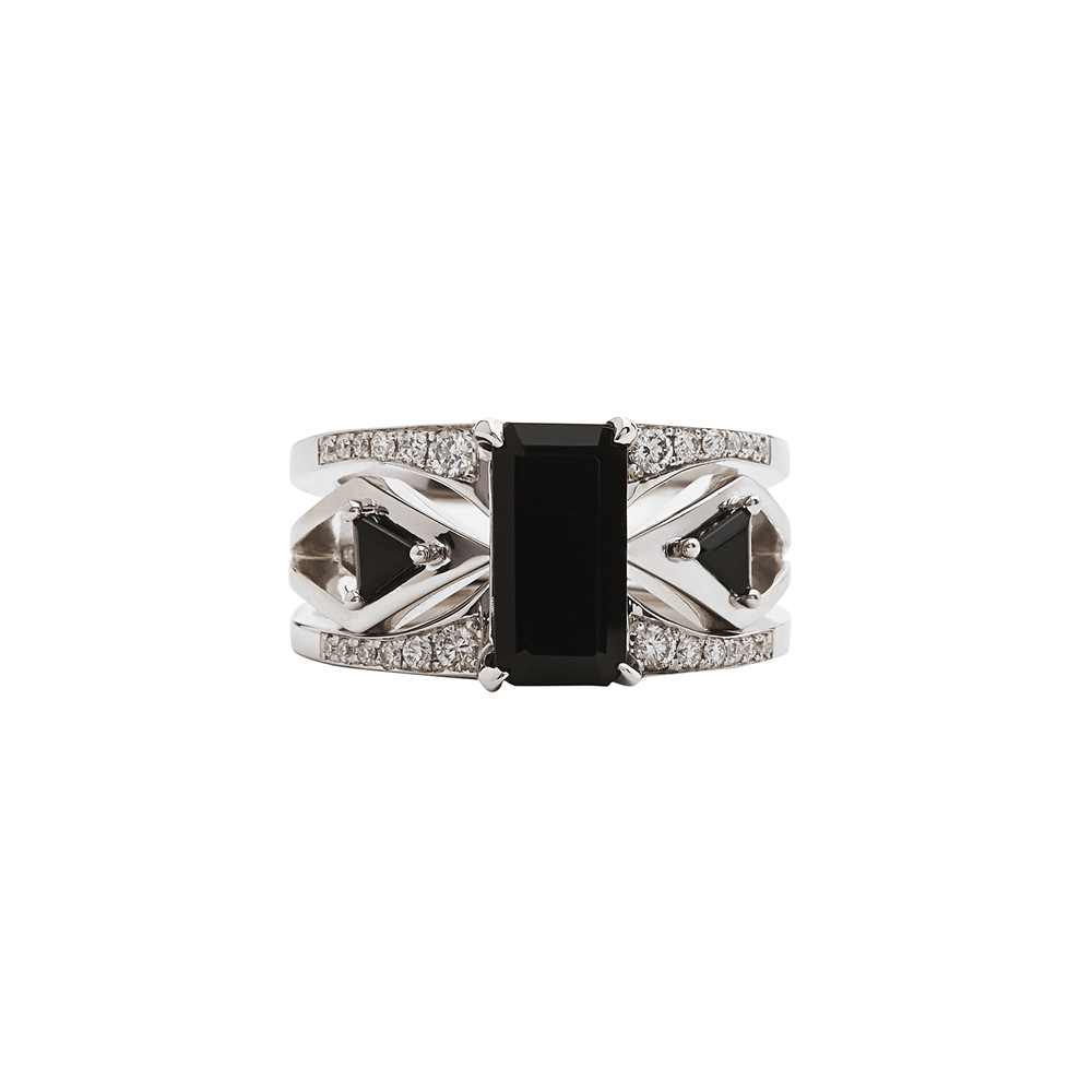 Mirage Black Ring Set