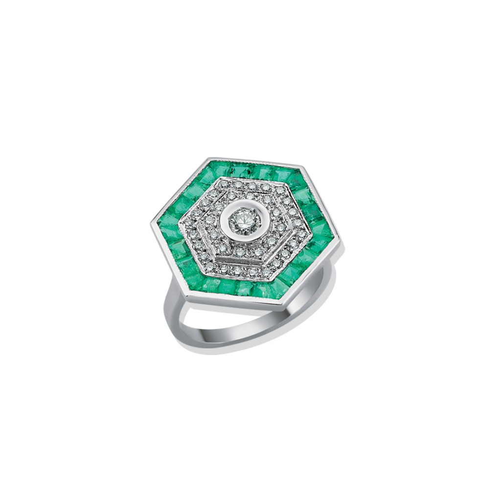 Odette Emerald Ring by Melis Goral