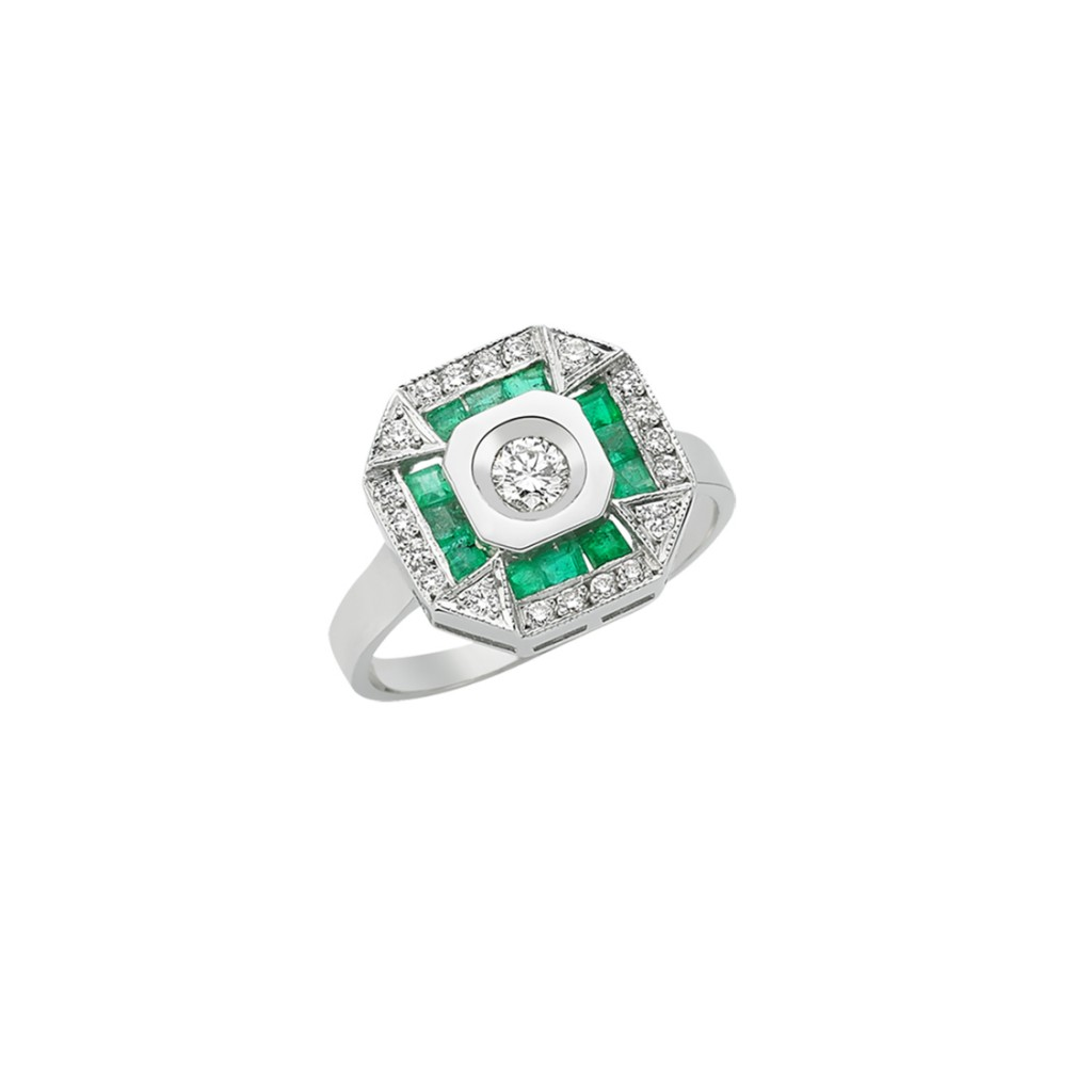 Emerald Lulu Ring by Melis Goral