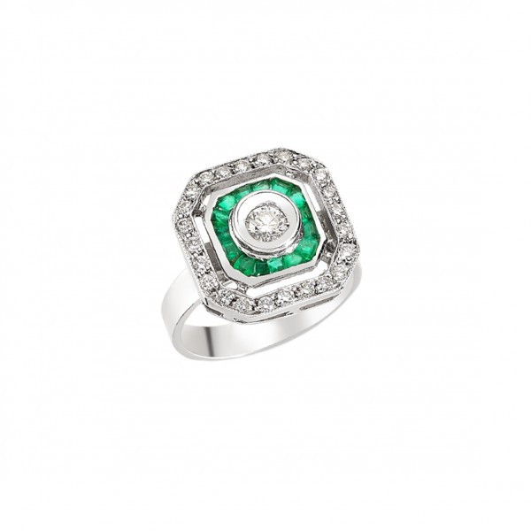 Emerald Riva Ring by Melis Goral