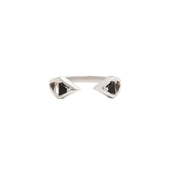Reflection Ring White Gold and Onyx