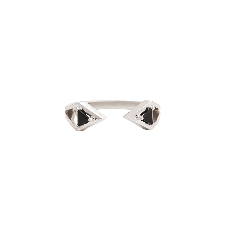 Reflection Ring White Gold and Onyx by Bliss Lau