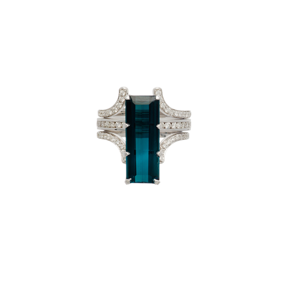 Spectrum Tourmaline Ring Set by Bliss Lau