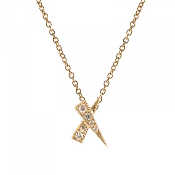 Kiss Diamond Pave Pendant