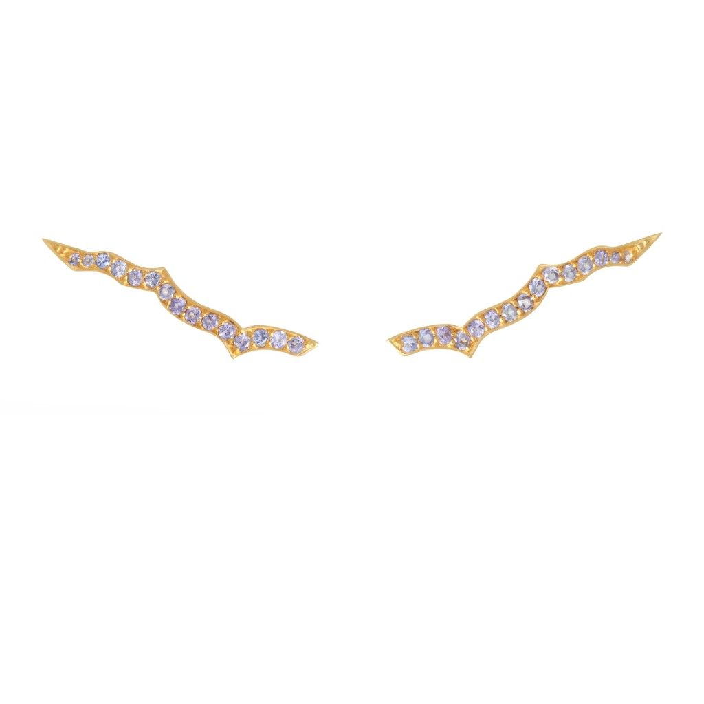 Ear Sliders in Gold by Assya