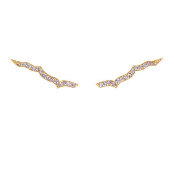Ear Sliders in Gold by Assya
