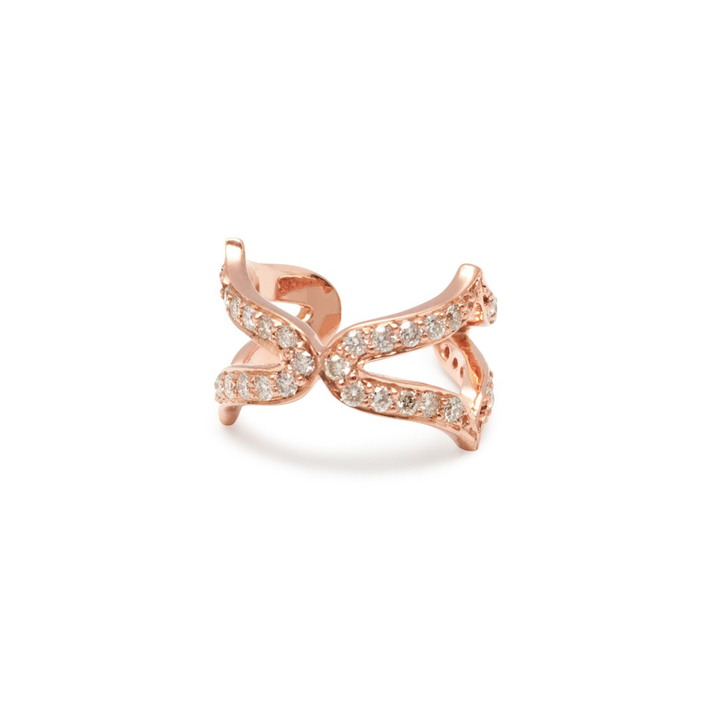 Oriental Ear Cuffs in Rose Gold by Assya