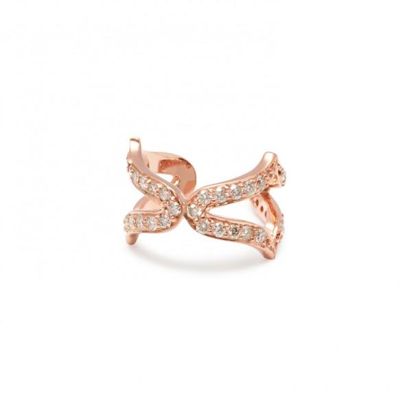 Oriental Ear Cuffs in Rose Gold by Assya