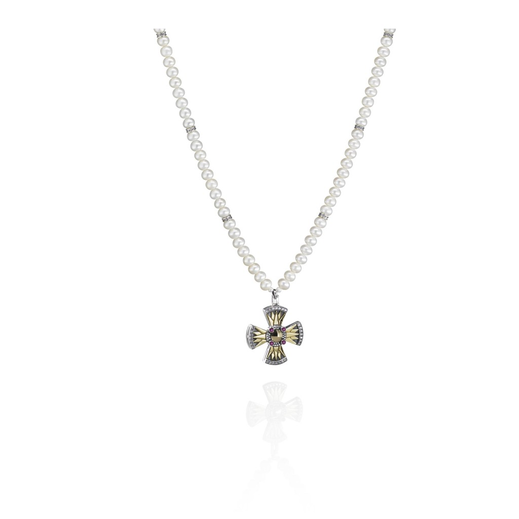 Coptic Cross Necklace by Azza Fahmy