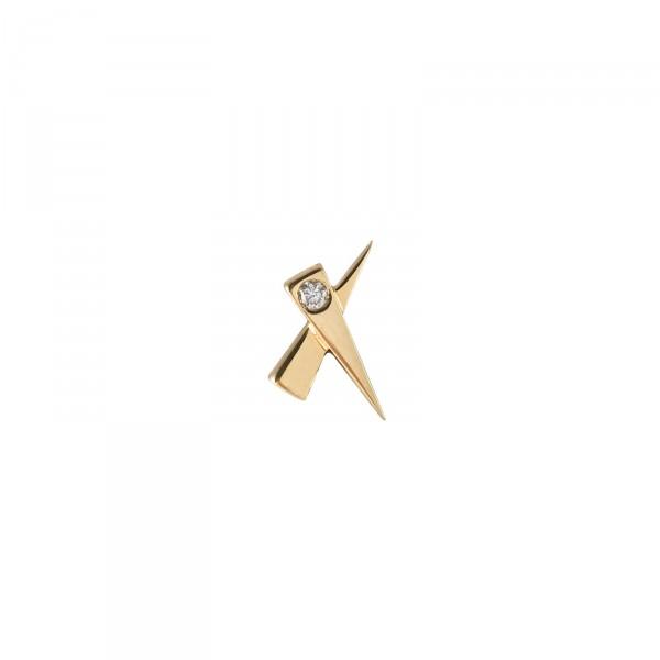 A Single Kiss Diamond Earring by Daou Jewellery