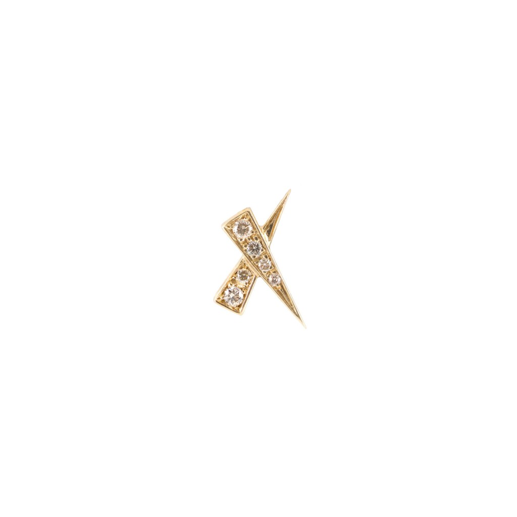 A Single Kiss Pave Earring