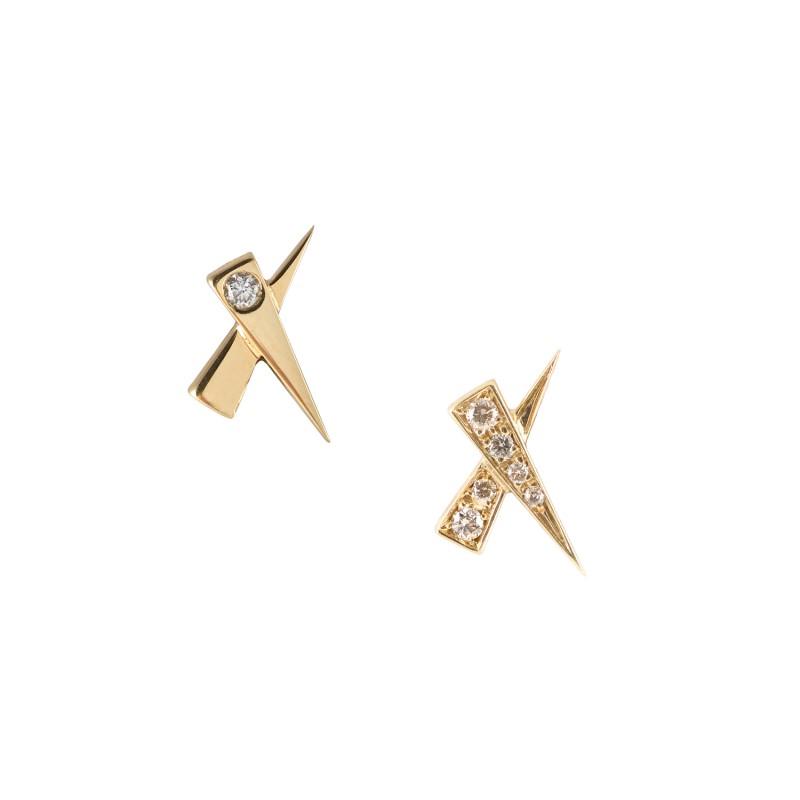 Daou Jewellery 18kt Gold Kisses Earrings RXPhJJJ