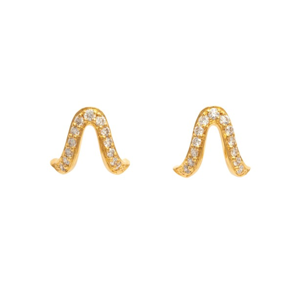 Oriental Studs in Yellow Gold by Assya