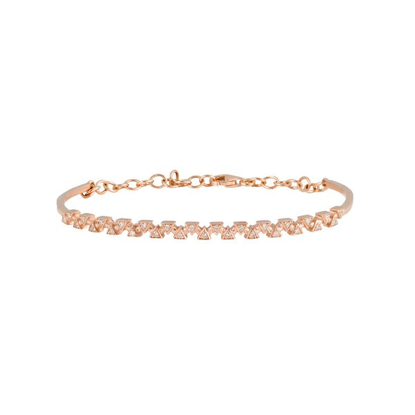 Sparks Bangle – Rose Gold by Daou Jewellery