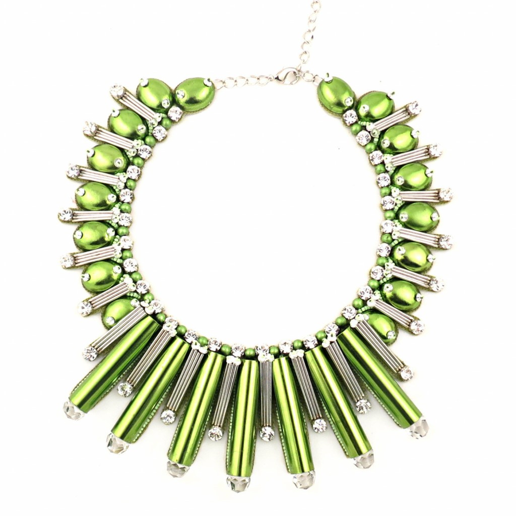 Beautix Necklace – Green by Begada