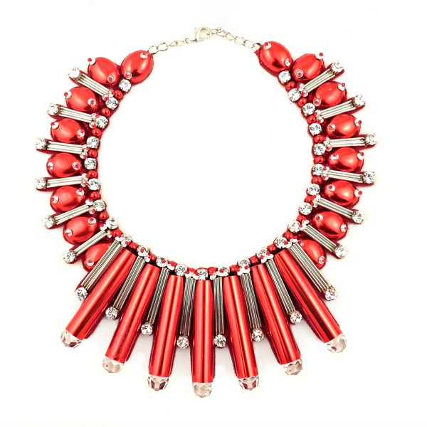 Beautix Necklace – Red by Begada