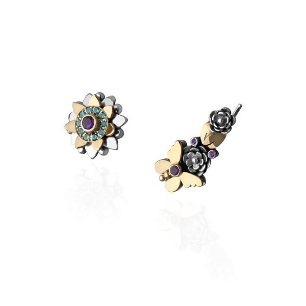Nature Crawler Earrings by Azza Fahmy