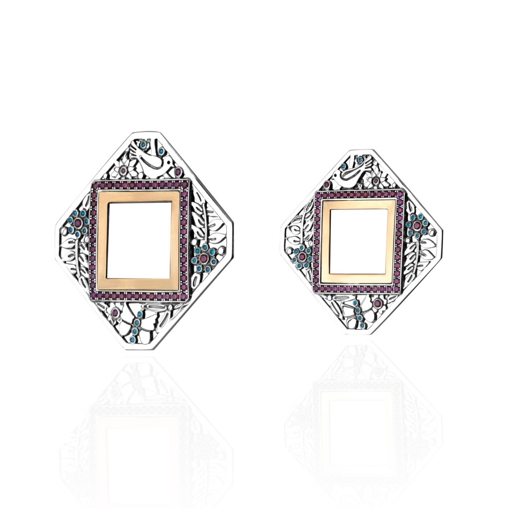 Diamond-shape Nature Earrings