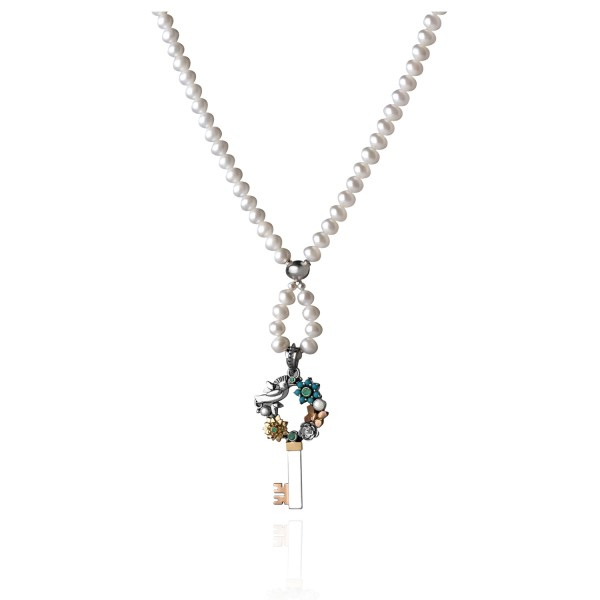 Pearl Key Necklace by Azza Fahmy